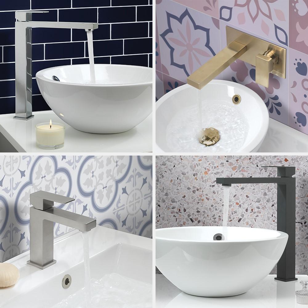 Luxury Bathroom Design | Enhance a contemporary style bathroom with Verge bathroom brassware