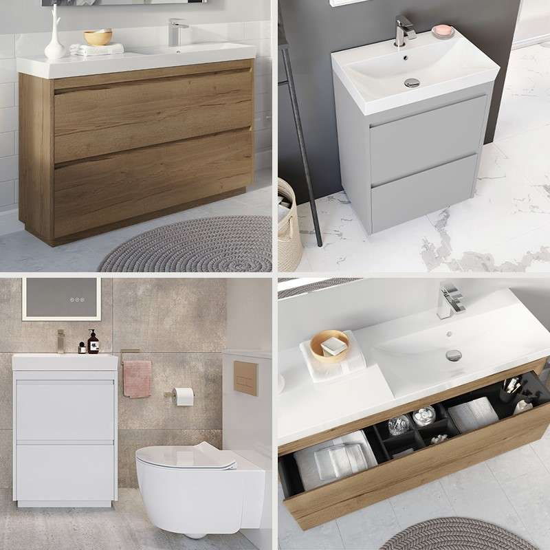 Luxury Bathroom Design | Capture stylish practicality in your contemporary style bathroom with the Zion furniture range