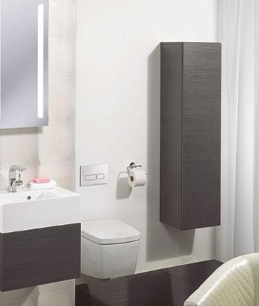 Elegant  White Amp Walnut Matching Bathroom Cabinet Range  Freedom Homestore