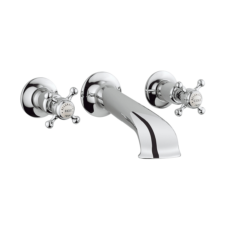 Belgravia Crosshead bath spout and wall stop taps in Wall Mounted ...