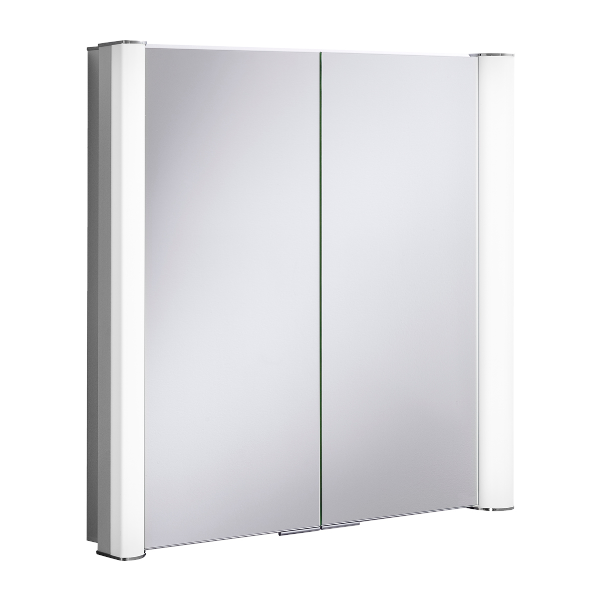 Duo 800 Illuminated Mirrored Cabinet In Mirrored Cabinets