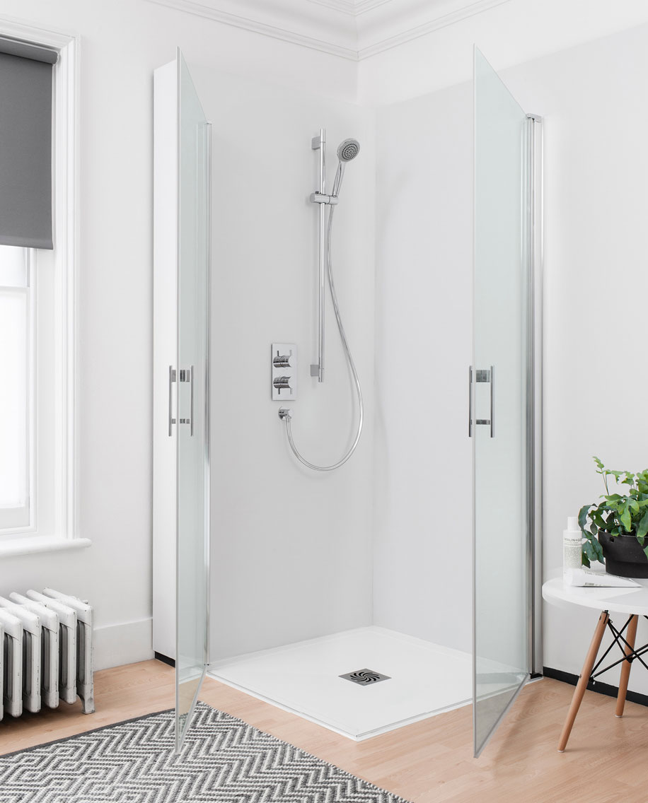 Click Easy Access Double Hinged Door Shower Enclosure In