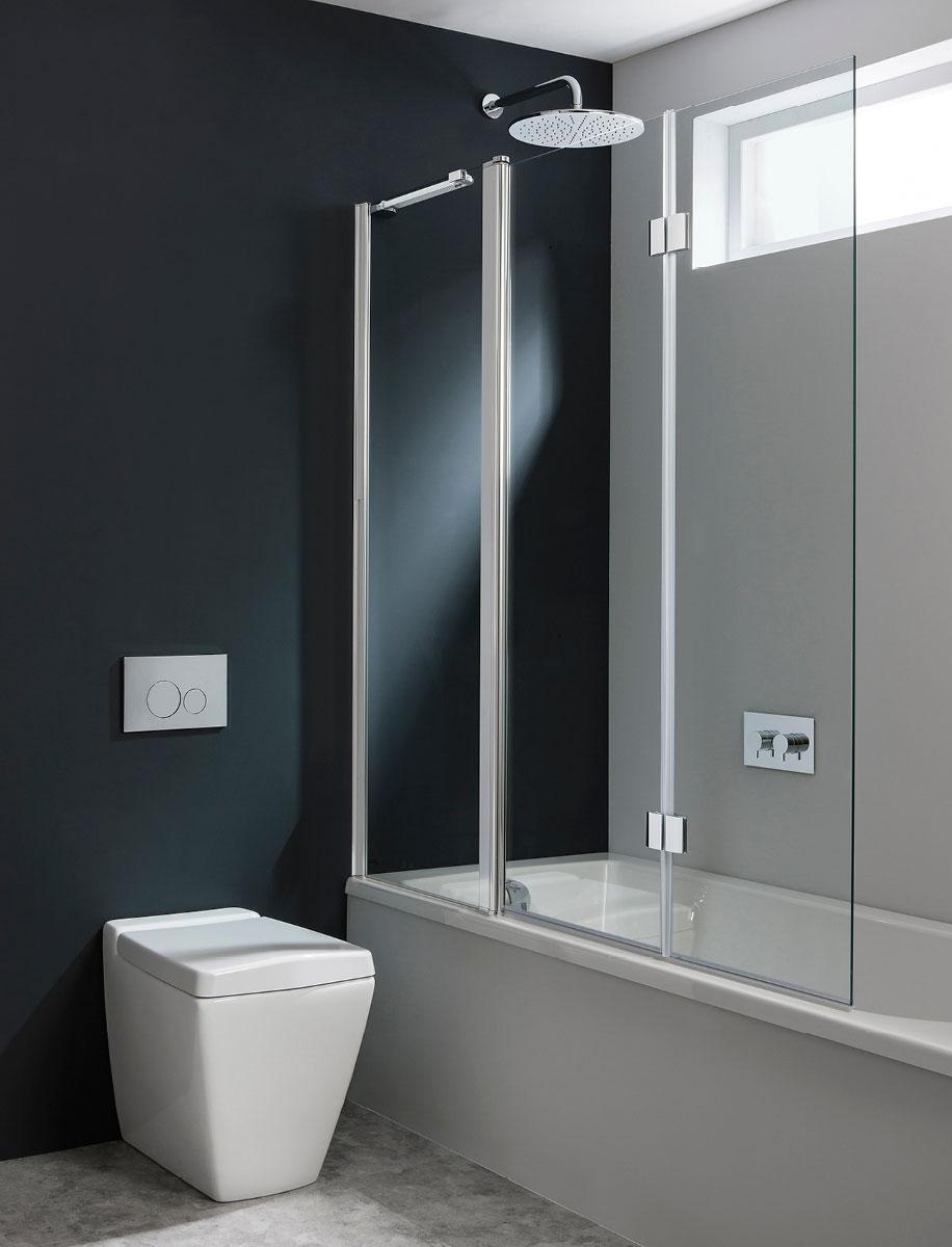 Design Triple Bath Screen In Design Luxury Bathrooms Uk Crosswater Holdings