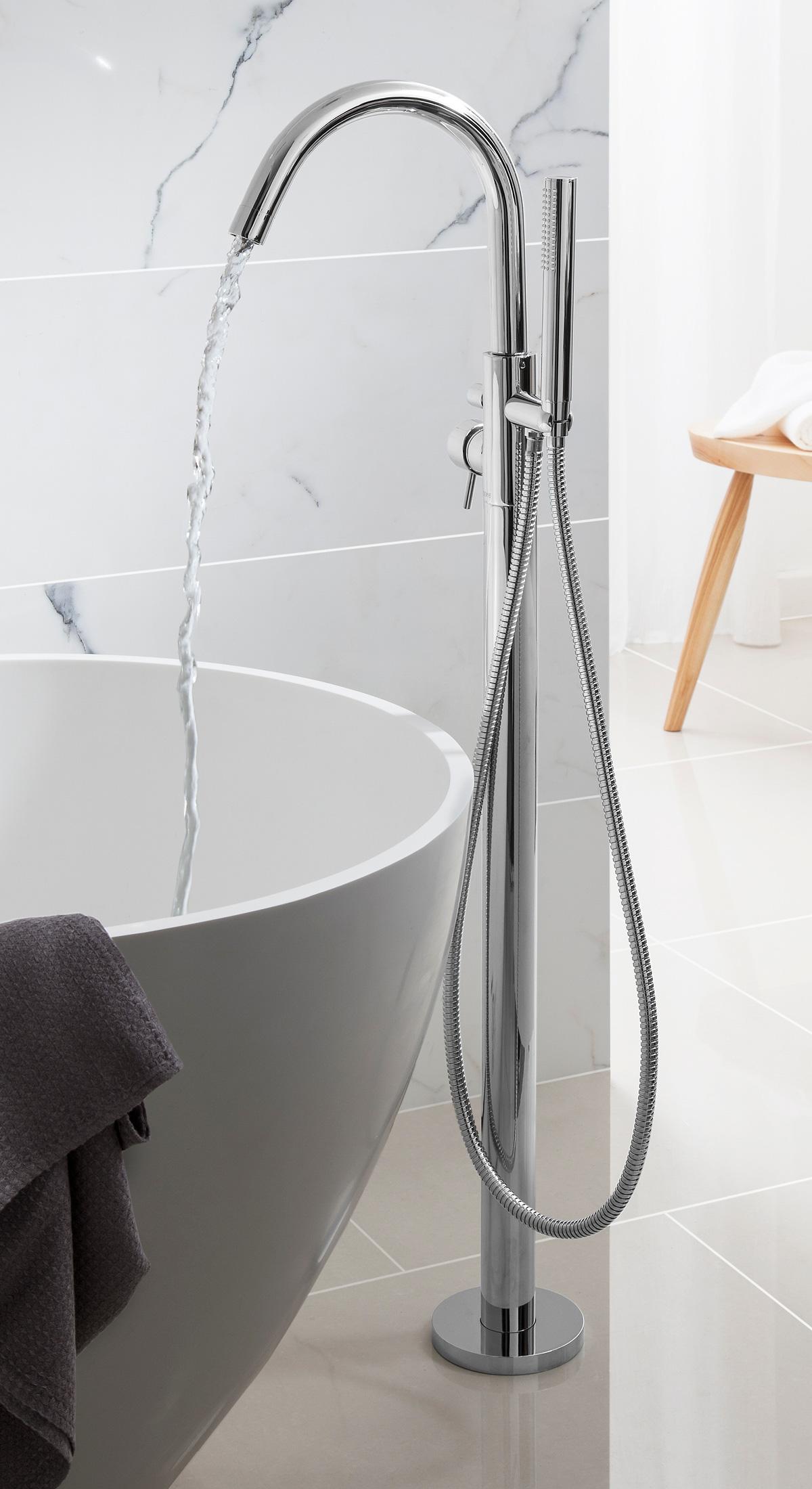Design Bath Shower Mixer In Floor Standing Luxury
