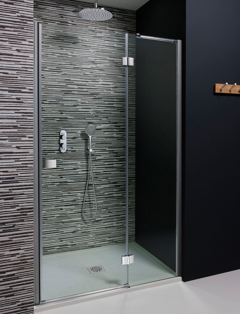 Design hinged shower door with inline panel in frameless for 1200 hinged shower door
