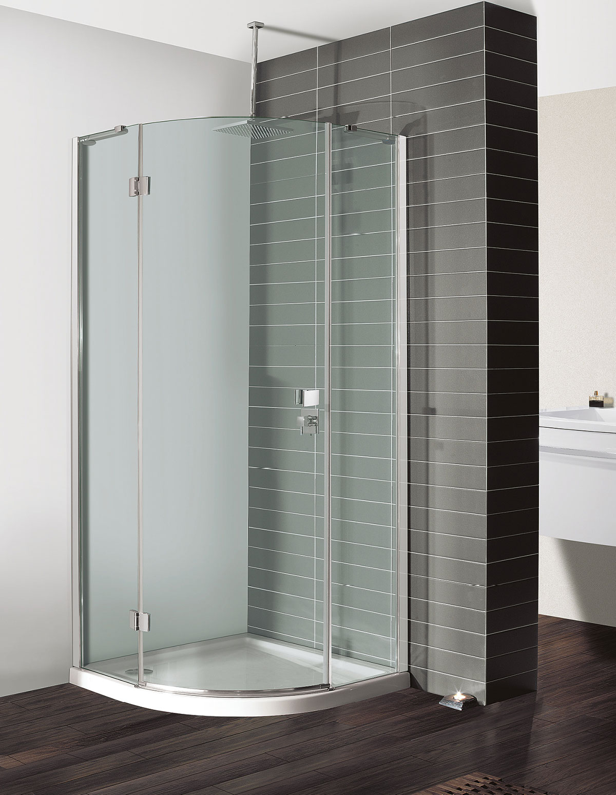 close plumb enclosure tray easy elements quadrant up and view shower show