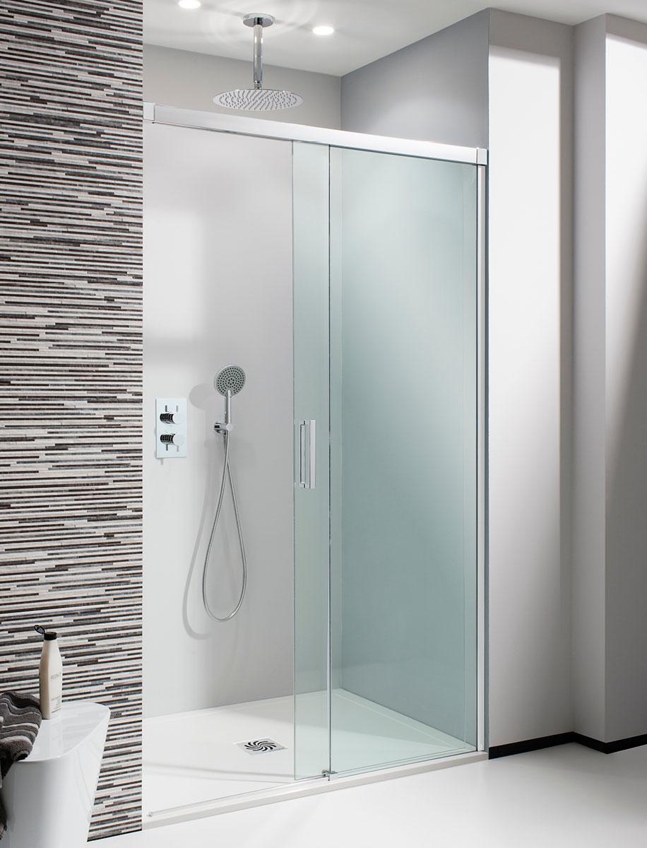 Design Soft Close Single Slider Shower Door in Framed | Luxury ...