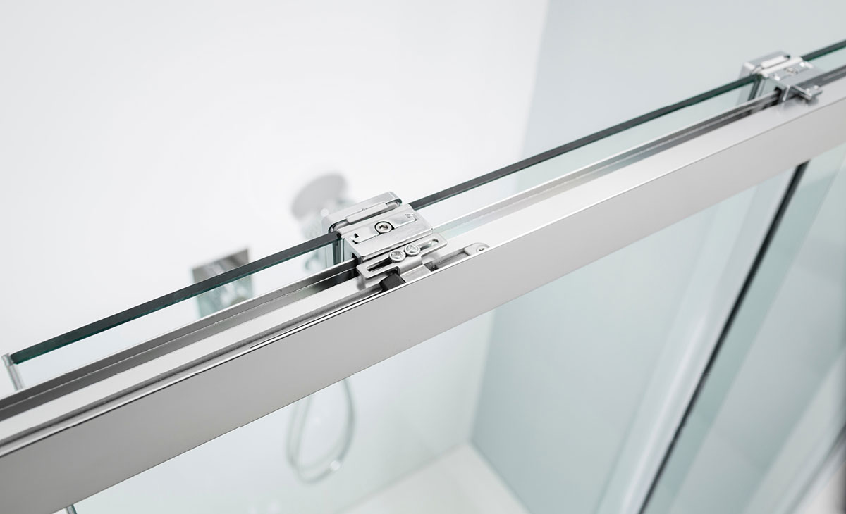 Design Soft Close Single Slider Shower Door In Design