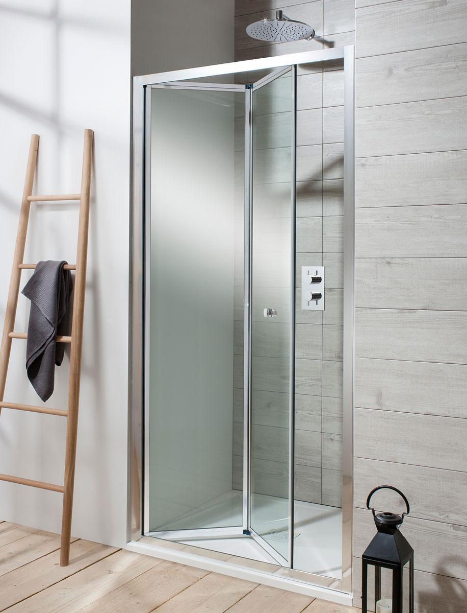 Edge Bifold Shower Door In Framed Luxury Bathrooms Uk