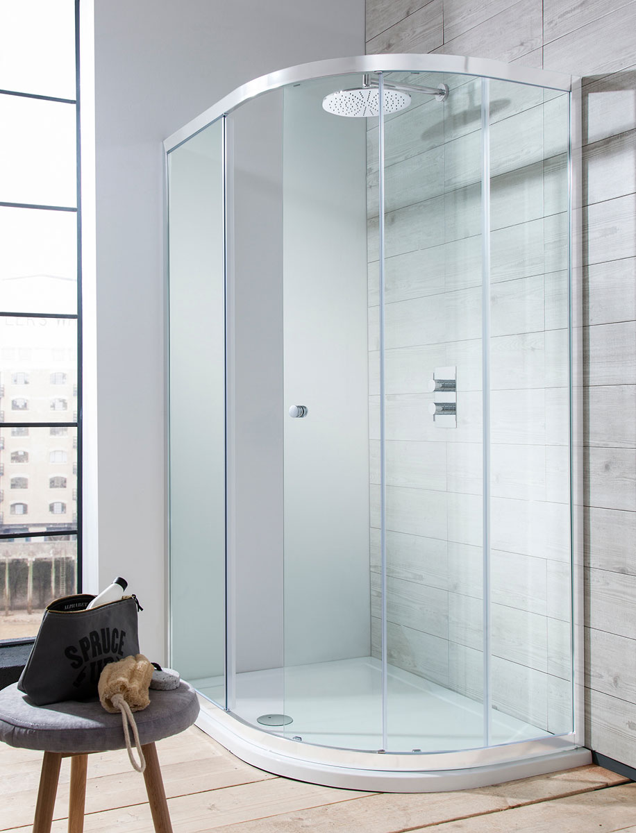 Edge Quadrant Single Door Shower Enclosure In Quadrant