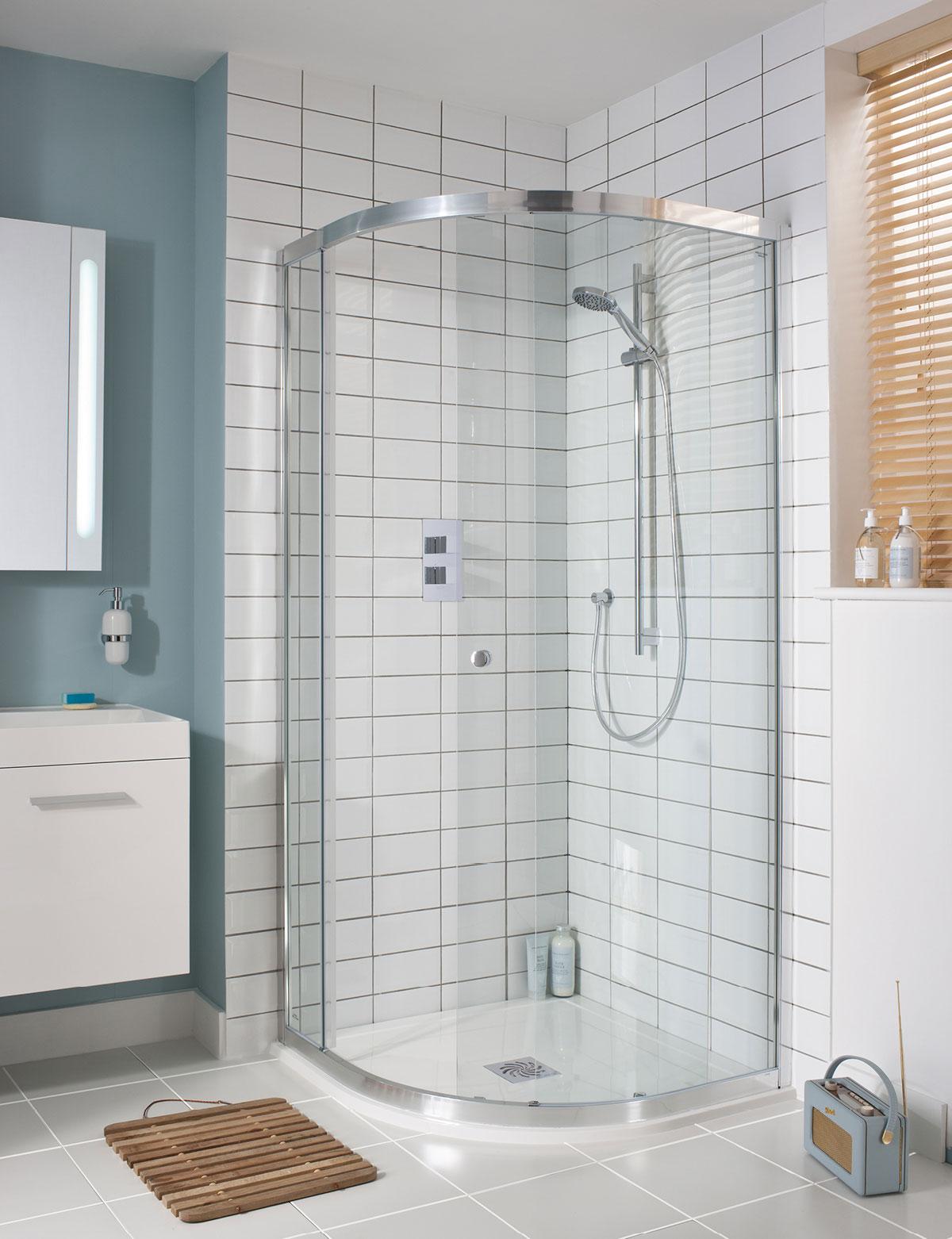 Edge Quadrant Single Door Shower Enclosure In Quadrant Luxury Bathrooms UK