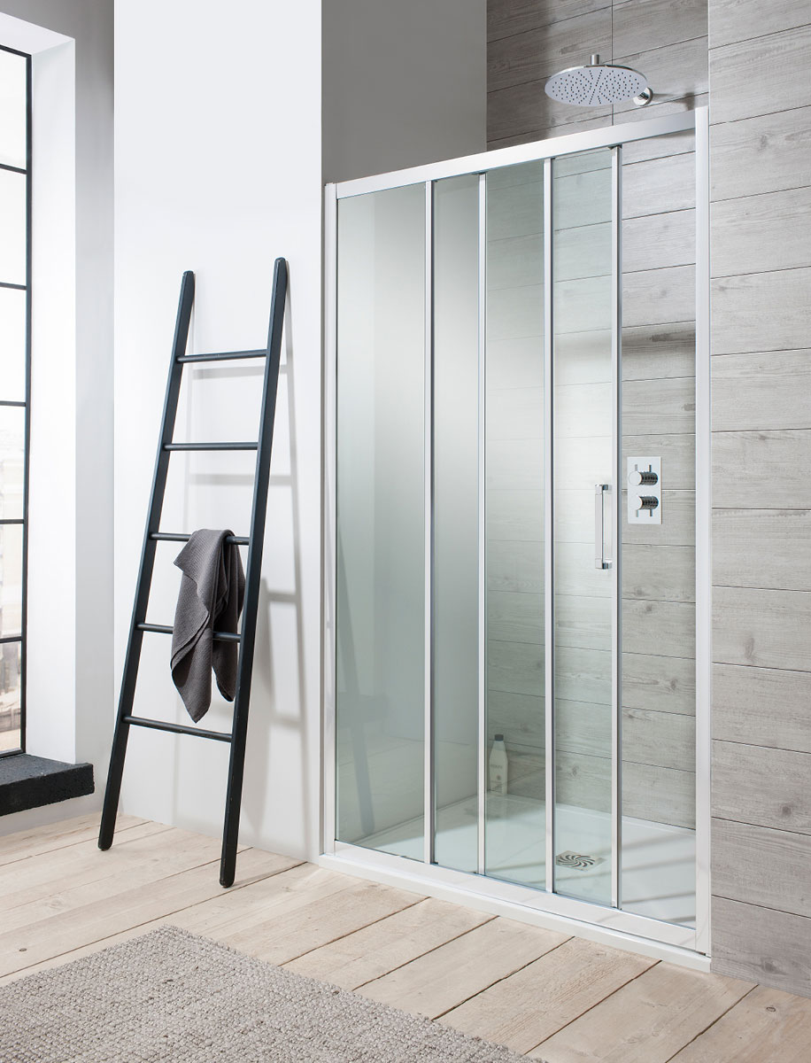 Edge Triple Slider Shower Door In Edge Luxury Bathrooms