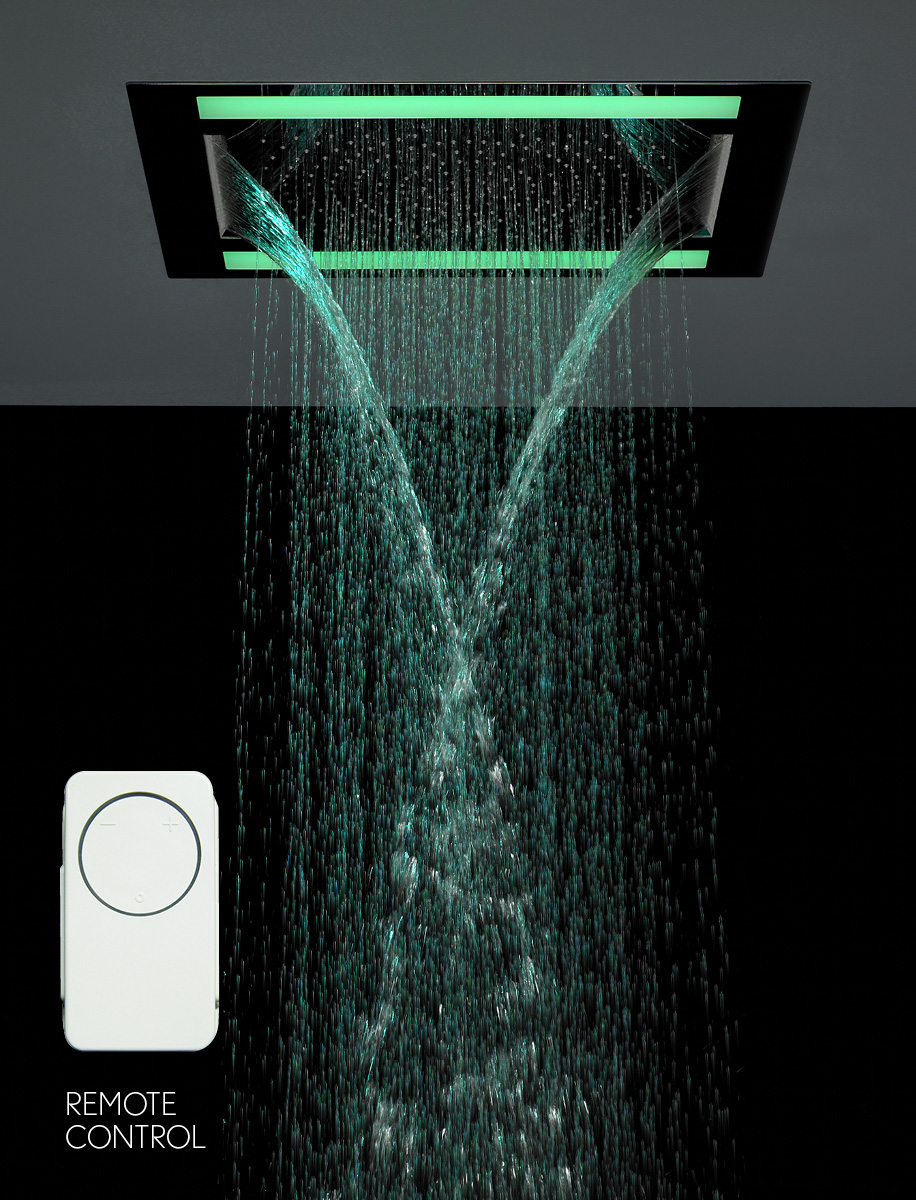 Rio Revive Showerhead With Lights And Double Waterfall