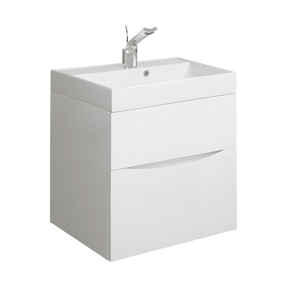 Glide ii 50 unit cast mineral marble basin in 400 600mm luxury bathrooms uk crosswater holdings - Marble vanity units ...