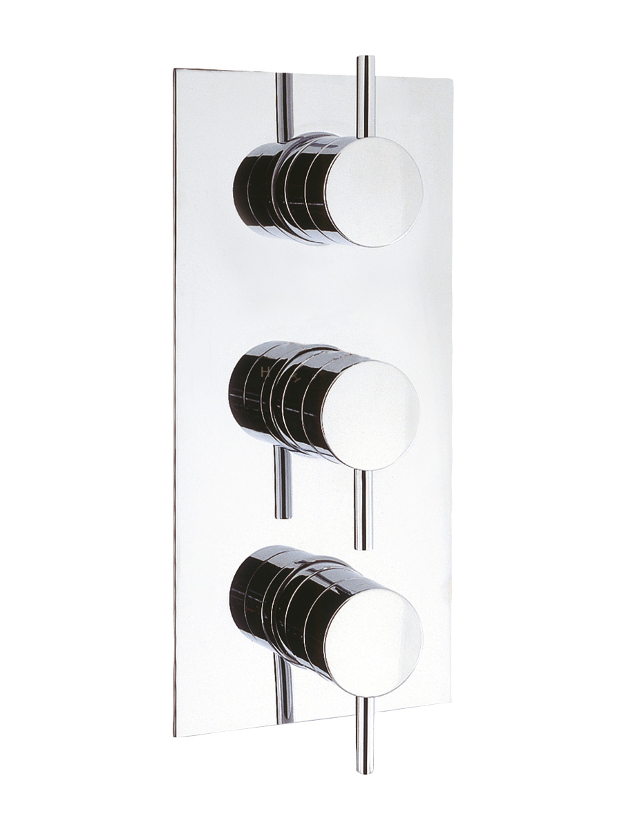 Kai Lever Thermostatic Shower Valve With 3 Way Diverter In Kai Lever |  Luxury Bathrooms UK, Crosswater Holdings