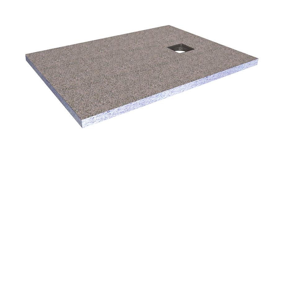 New Wetroom Level Access Shower Tray with Corner Drain in Shower Trays  ZT95