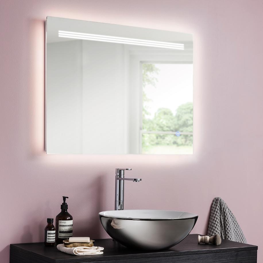 Radiance ambient illuminated mirror in radiance luxury for Illuminated mirrors