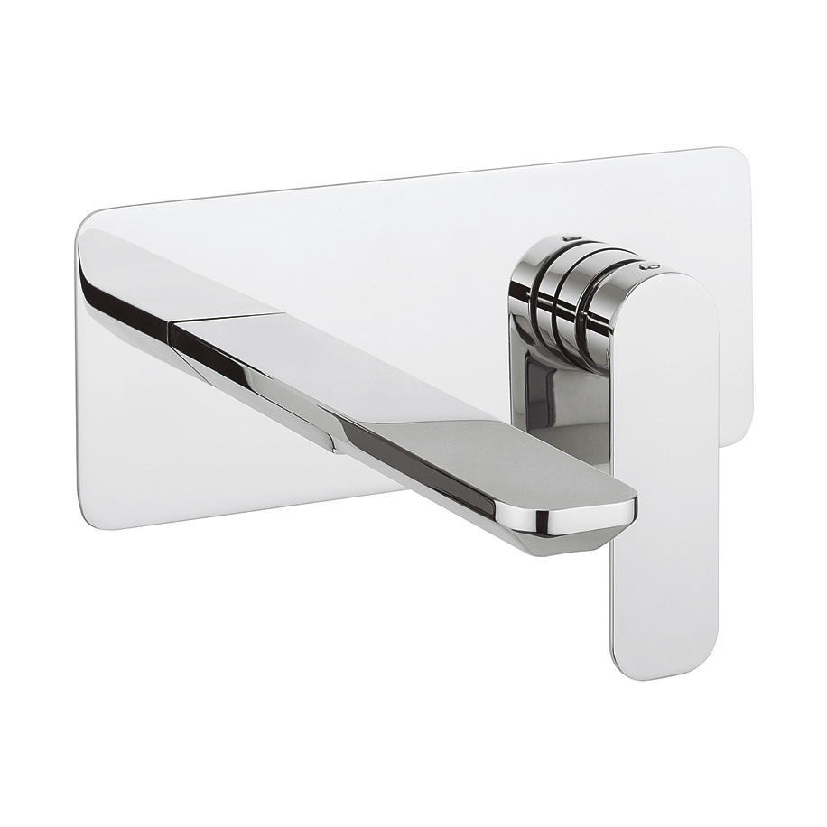 Pier basin 2 hole set in wall mounted luxury bathrooms for 200mm kitchen wall unit