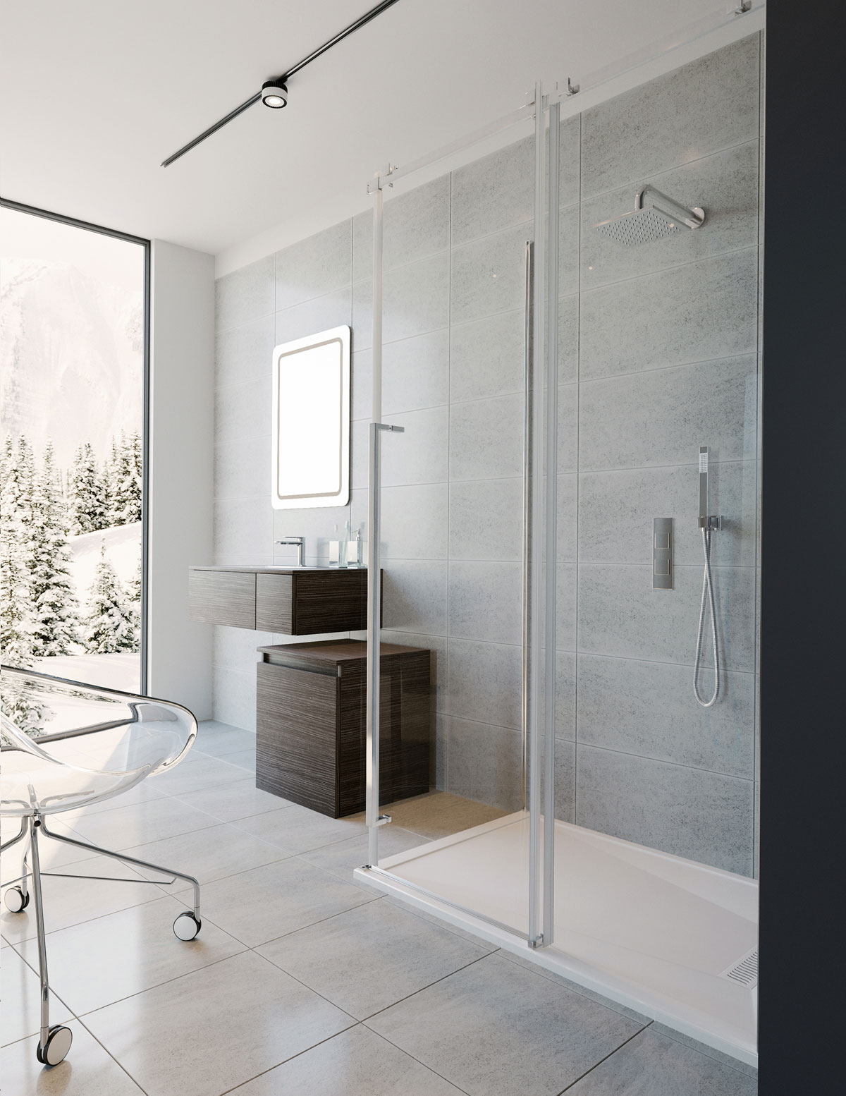 line gemini enclosure with sliding bypass products in doors plus door shower frameless tub fleurco