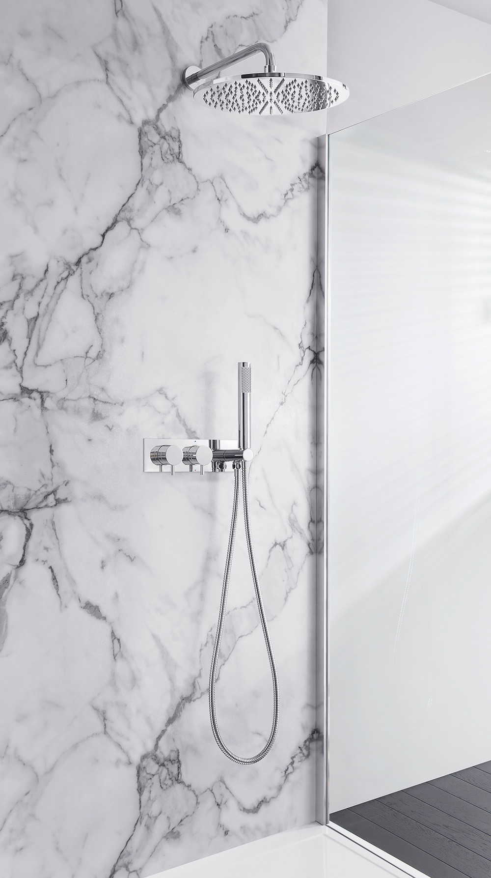 Mpro Thermostatic Bath Shower Valve In Recessed Luxury