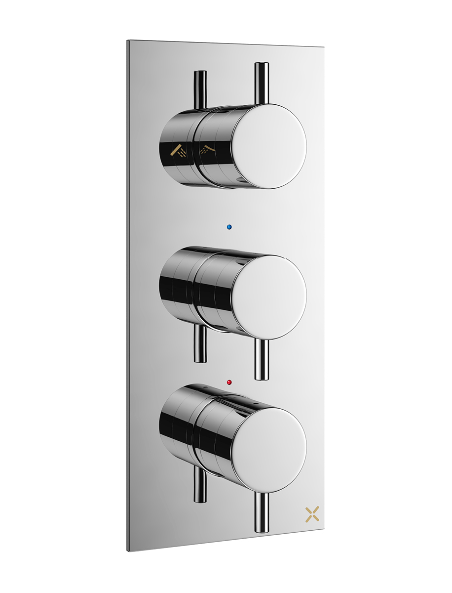 Mike Pro Thermostatic Shower Valve With 3 Way Diverter In Diverter Valves |  Luxury Bathrooms UK, Crosswater Holdings