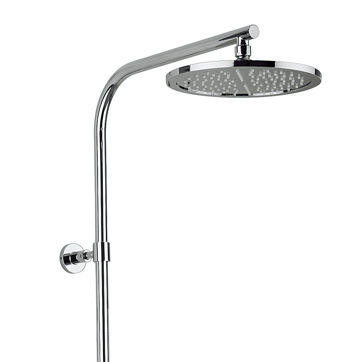 Round 250mm Cool To Touch Shower Kit With Handheld: Fixed Head & Single Mode Shower Kit
