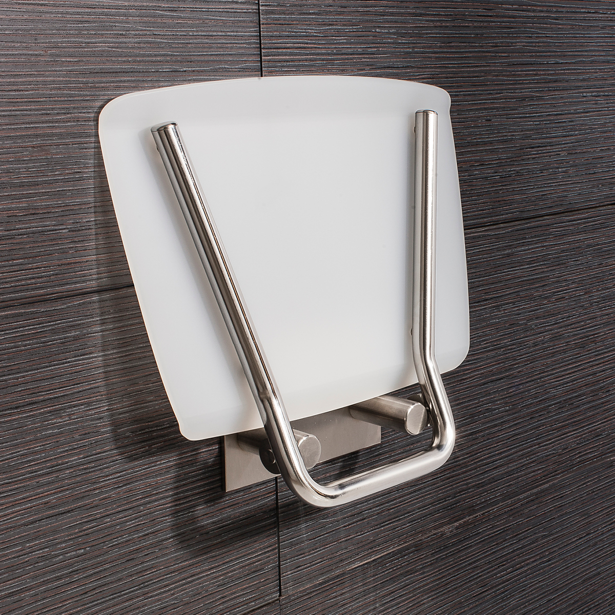 Square Wall Mounted Folding Shower Seat In Shower Seats