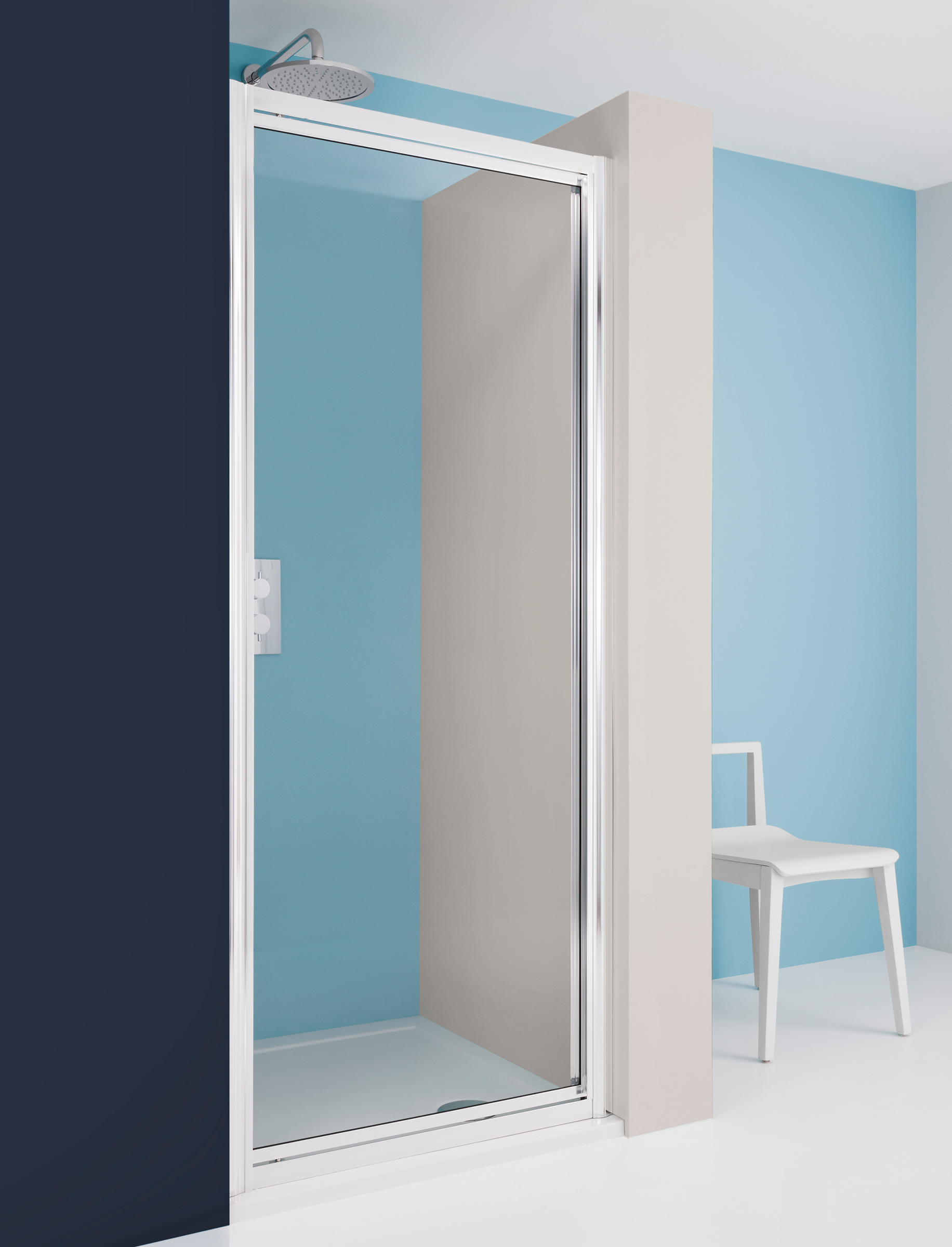 Supreme Pivot Shower Door In Pivot Door Luxury Bathrooms