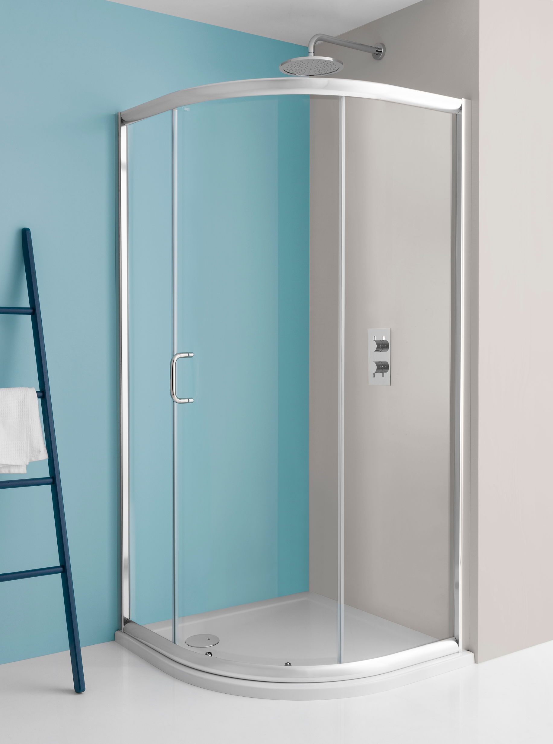 Supreme Quadrant Single Door Shower Enclosure In Supreme