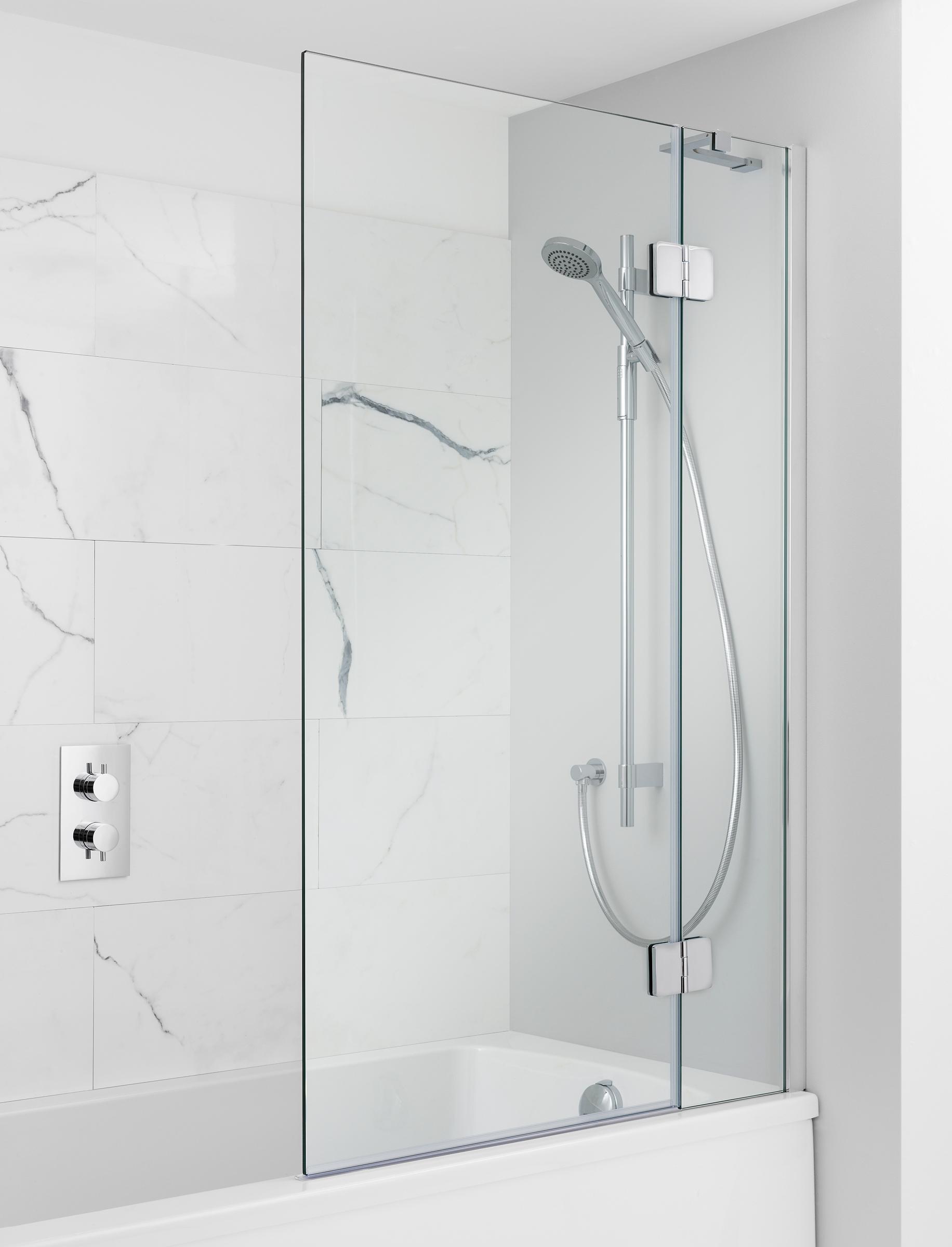 Hinged Bath Screen Add