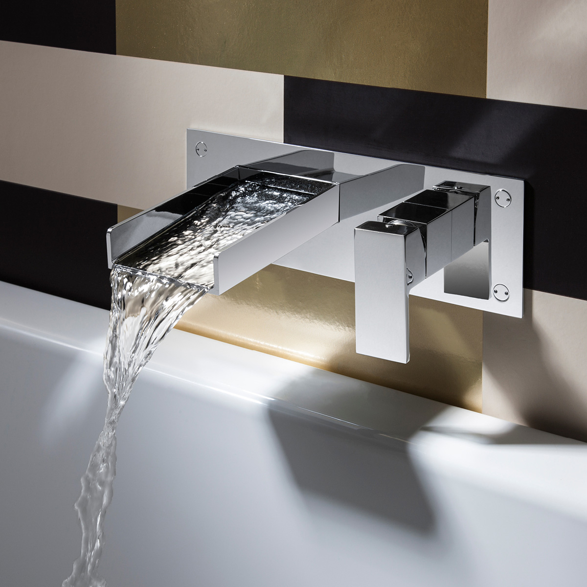 Water Square basin 2 hole set in Wall Mounted | Luxury ...